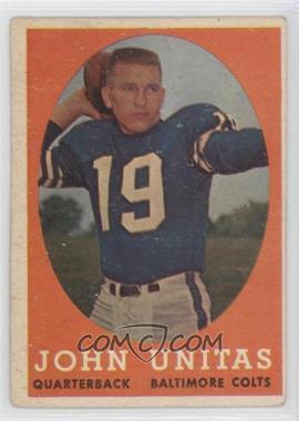 1958 Topps #22 - Johnny Unitas [GoodtoVG‑EX]