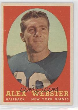 1958 Topps #30 - Alex Webster