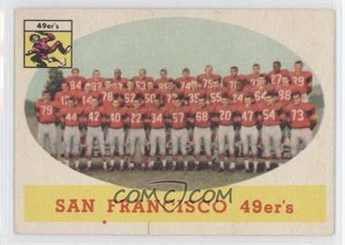 1958 Topps #41 - San Francisco 49ers