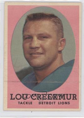 1958 Topps #81 - Lou Creekmur