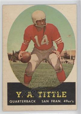 1958 Topps #86 - Y.A. Tittle