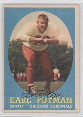 1958 Topps #88 - Earl Putman