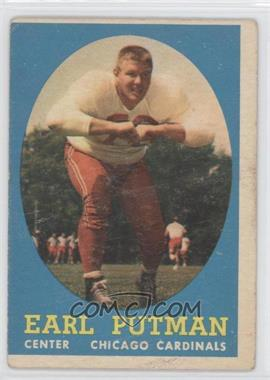 1958 Topps #88 - Earl Putman [Good to VG‑EX]