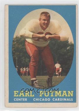 1958 Topps #88 - Earl Putman [GoodtoVG‑EX]