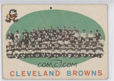 1959 Topps - [Base] #161 - Cleveland Browns Team