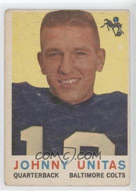 1959 Topps #1 - Johnny Unitas [Good to VG‑EX]