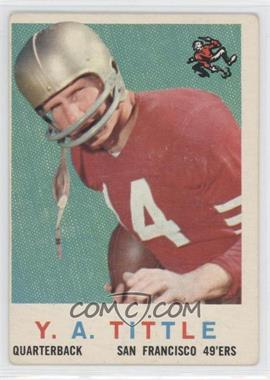 1959 Topps #130 - Y.A. Tittle [Good to VG‑EX]