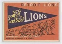 Detroit Lions Pennant [Good to VG‑EX]
