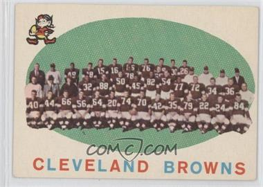 1959 Topps #161 - Cleveland Browns Team