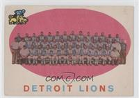 Detroit Lions [Good to VG‑EX]