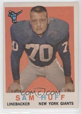 1959 Topps #51 - Sam Huff
