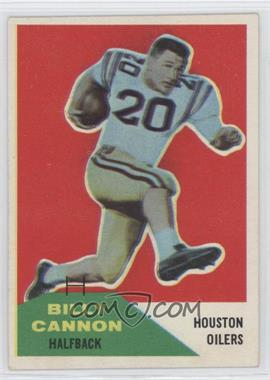 1960 Fleer - [Base] #66 - Billy Cannon