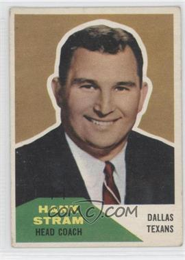 1960 Fleer #116 - Hank Stram [Good to VG‑EX]