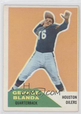 1960 Fleer #58 - George Blanda