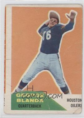 1960 Fleer #58 - George Blanda [Good to VG‑EX]