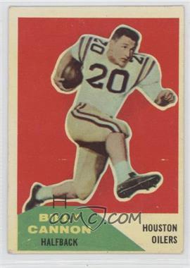 1960 Fleer #66 - Billy Cannon