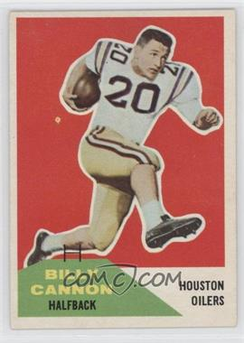 1960 Fleer #66 - Billy Cannon