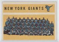 New York Giants Team, Checklist [GoodtoVG‑EX]