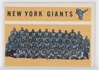 New York Giants Team, Checklist