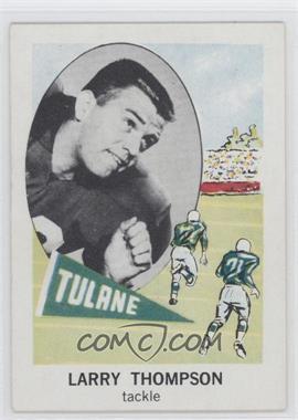 1961 Nu-Cards Football Stars - [Base] #153 - Larry Thompson