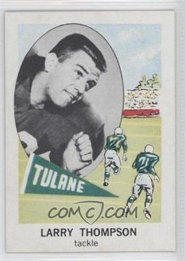 1961 Nu-Cards Football Stars #153 - Larry Thompson