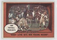 Bobby Layne Sets a New Passing Record