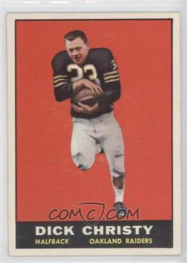 1961 Topps #184 - Dick Christy