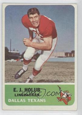 1962 Fleer - [Base] #30 - E.J. Holub