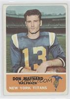 Don Maynard [Good to VG‑EX]