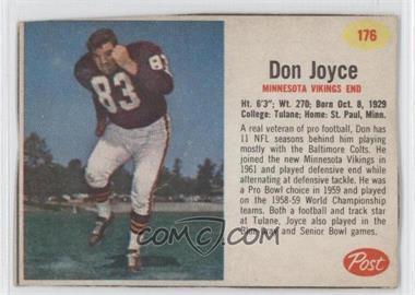 1962 Post - [Base] #176 - Don Joyce