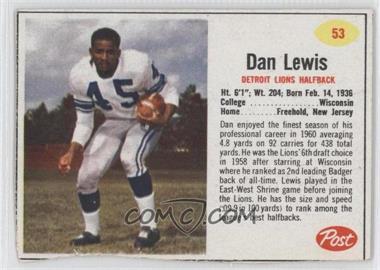 1962 Post - [Base] #53 - Dan Lewis [GoodtoVG‑EX]