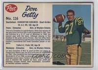 Don Getty [Good to VG‑EX]
