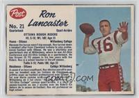 Ron Lancaster