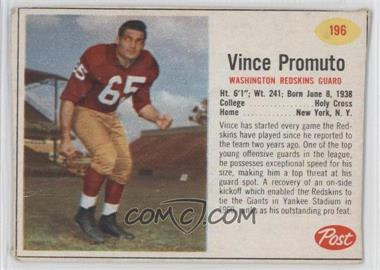 1962 Post #196 - Vince Promuto [Good to VG‑EX]