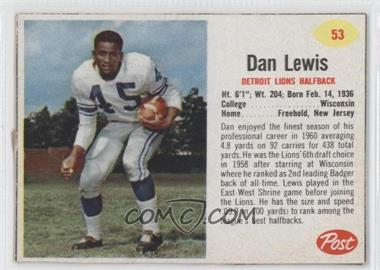 1962 Post #53 - Dan Lewis