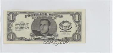 1962 Topps Football Bucks #1 - Fran Tarkenton