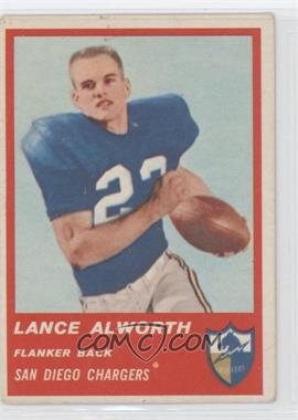 1963 Fleer - [Base] #72 - Lance Alworth