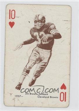 1963 Stancraft Playing Cards - [Base] - Green Back #10H - Jim Brown [GoodtoVG‑EX]