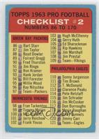 Pro Football Checklist #2 [GoodtoVG‑EX]