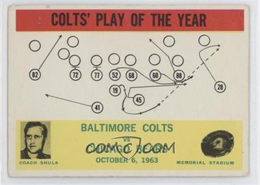 1964 Philadelphia #14 - Colts' Play of the Year [Good to VG‑EX]