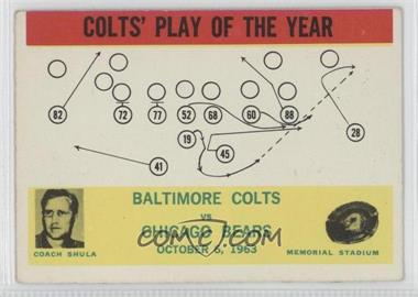 1964 Philadelphia #14 - Colts' Play of the Year [GoodtoVG‑EX]