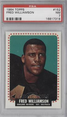 1964 Topps - [Base] #152 - Fred Williamson [PSA 7]