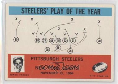1965 Philadelphia - [Base] #154 - Pittsburgh Steelers Team, New York Giants Team [GoodtoVG‑EX]
