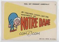 My teacher looks like the Hunchback of Notre Dame