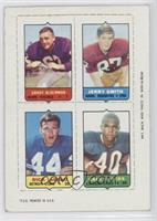 Jerry Smith, Dick LeBeau, Gale Sayers, Grady Alderman [Good to VG&#82…
