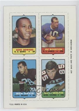 1969 Topps - Mini-Cards (4-in-1) #HMDM - Gene Howard, Joe Morrison, Ben Davis, Billy Martin