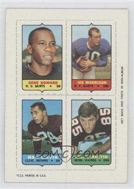 1969 Topps - Mini-Cards (4-in-1) #HMDM - Gene Howard, Joe Morrison, Ben Davis, Billy Martin [Good to VG‑EX]