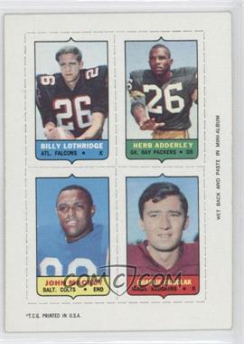 1969 Topps - Mini-Cards (4-in-1) #LAMG - Billy Lothridge, Herb Adderly, John Mackey, Charlie Gogolak