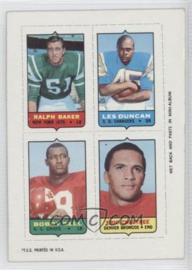 1969 Topps Mini-Cards (4-in-1) #BDBC - Ralph Baker, Lenny Dunlap, Eric Crabtree, Leslie Duncan [GoodtoVG‑EX]