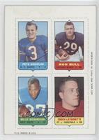 Pete Gogolak, Ronnie Bull, Willie Richardson, Chuck Latourette [Poorto&nb…